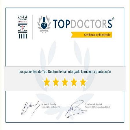 Entrega de Premio Top Doctors